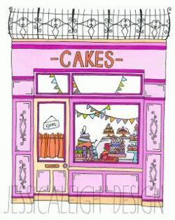Drawn shop bakery shop