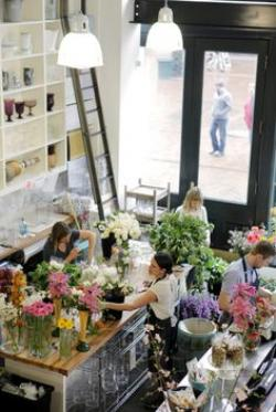 Drawn store flower shop