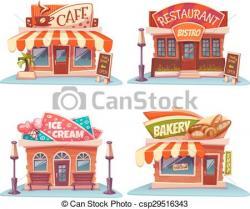 Drawn store ice cream shop