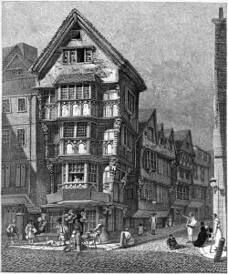 Drawn bulding  old london