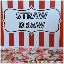 Drawn straw homemade