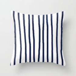 Drawn stripe vertical blue
