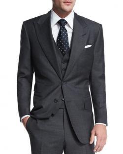 Drawn suit charcoal