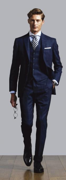 Drawn suit classic navy