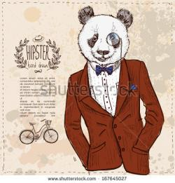 Drawn suit hipster