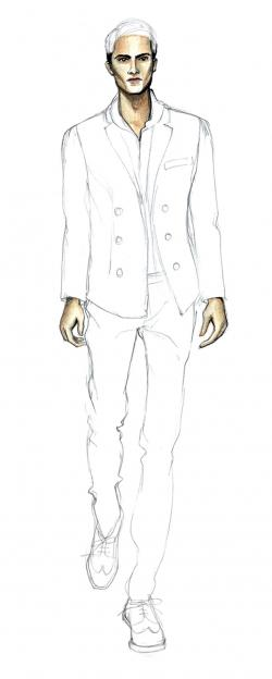 Drawn suit men's fashion