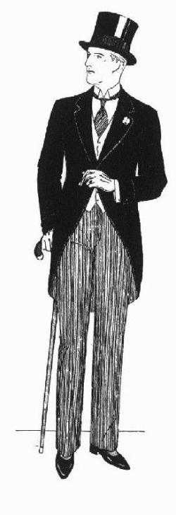 Drawn suit tailcoat