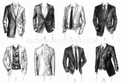 Drawn suit technical drawing