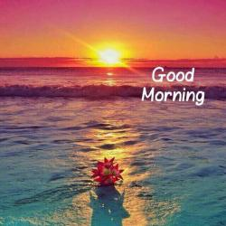 Drawn sunrise good morning beautiful