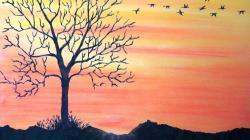 Drawn amd sunset