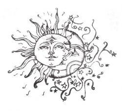 Drawn sunlight celestial