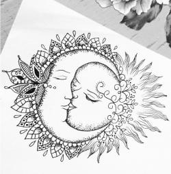 Drawn sunlight sun design