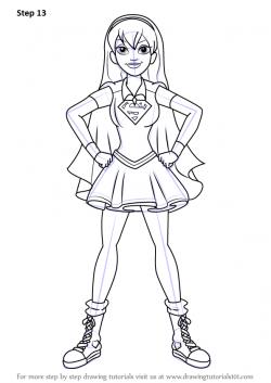 Drawn supergirl Drawing Superheroes