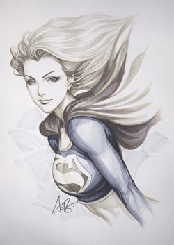 Drawn super girl