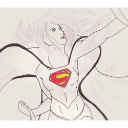 Drawn supergirl