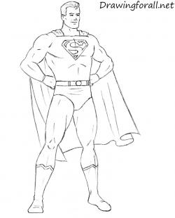 Drawn pice superman