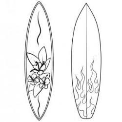 Drawn surfboard