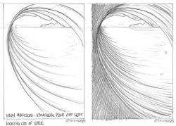Drawn wave barrel wave