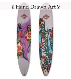 Drawn surfboard classic
