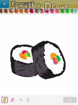 Drawn sushi