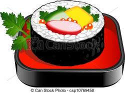 Drawn sushi clipart