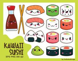 Drawn sushi cute