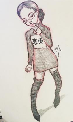 Drawn sushi happiness