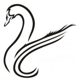 Drawn swan simple
