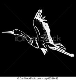 Drawn swan stencil