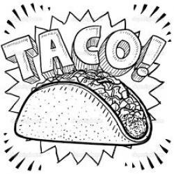 Drawn tacos