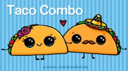 Drawn tacos cute