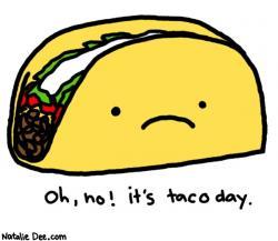Drawn tacos sad