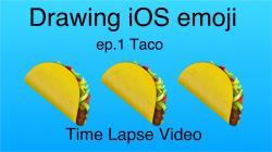 Drawn taco emojis