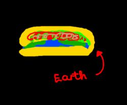 Drawn taco flat