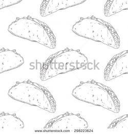 Drawn taco food