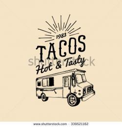 Drawn tacos food