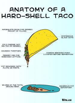 Drawn taco hard shell