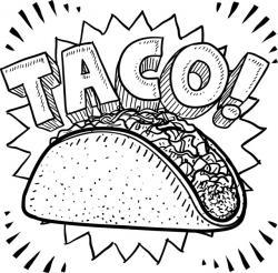 Drawn taco messy