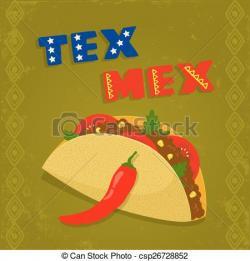Drawn tacos tex mex