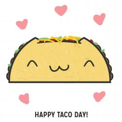 Drawn taco happy