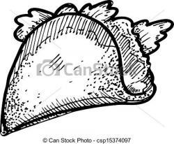 Drawn taco mexican
