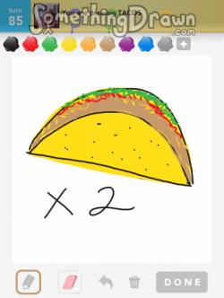 Drawn taco large