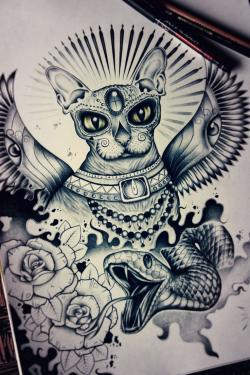 Drawn tattoo custom