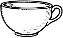Drawn tea cup