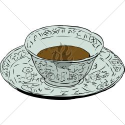 Drawn teacup chinese