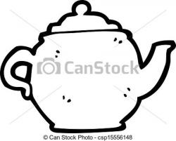 Drawn teapot cartoon