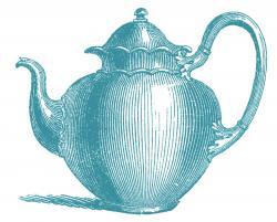 Teapot clipart teal