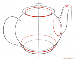 Drawn teapot sketch