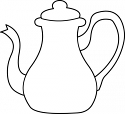 Drawn teapot tea kettle