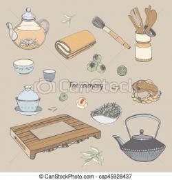 Drawn teapot traditional